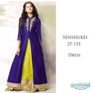 Dress Senshukei Dengan Bordir Ungu